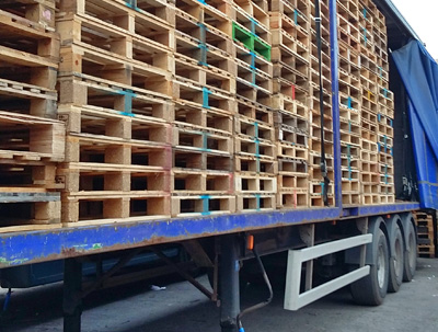 Repaired Reconditioned Pallets